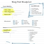 How to Write a Blog Post – From Start to Finish, as Shown on This Cut-Out-'N-Keep Blog Post Blueprint