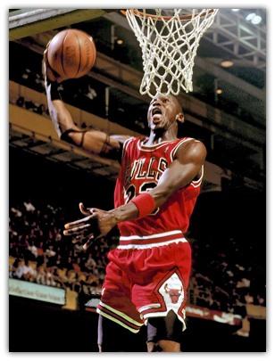 Michael Jordan at Boston Garden