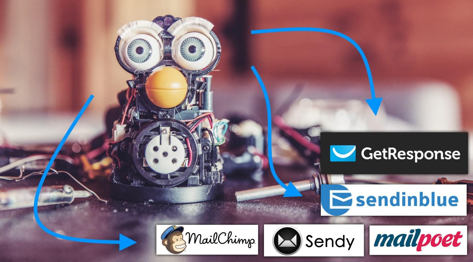 GetResponse vs MailChimp vs SendinBlue vs Sendy vs MailPoet